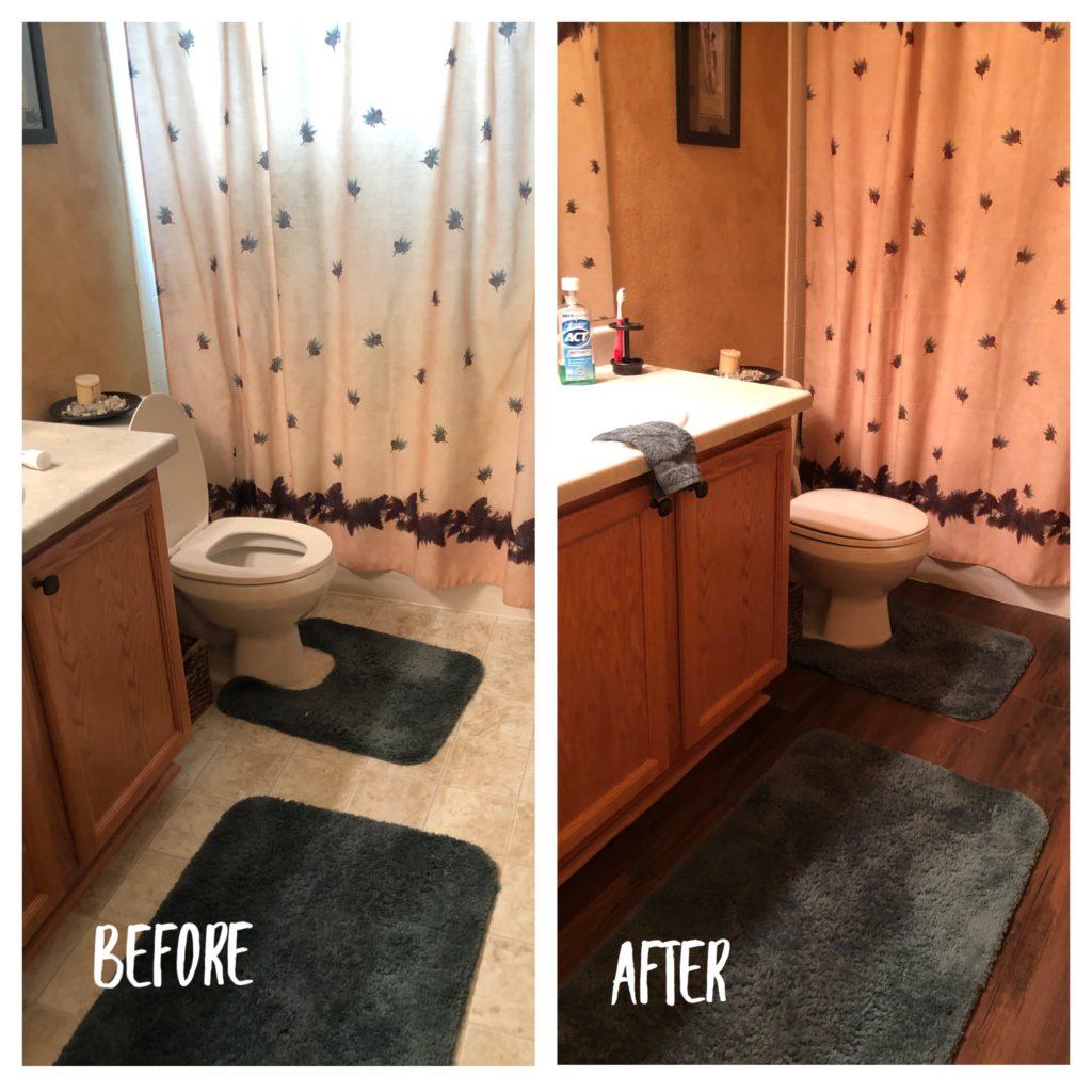 Diy Bathroom Floor Make Over Colorado Kelly